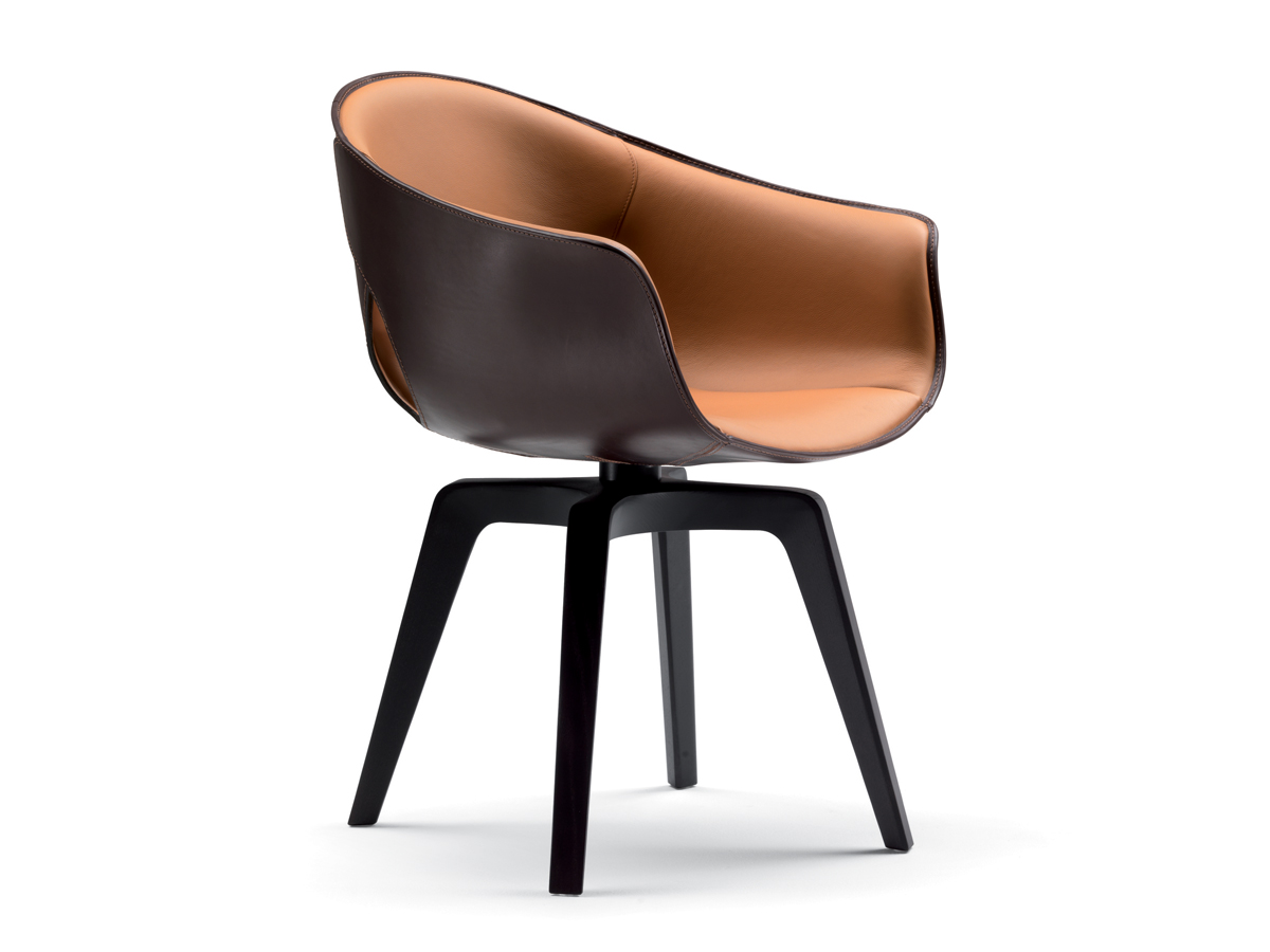 Buy The Poltrona Frau Ginger Swivel Armchair At Nest Co Uk