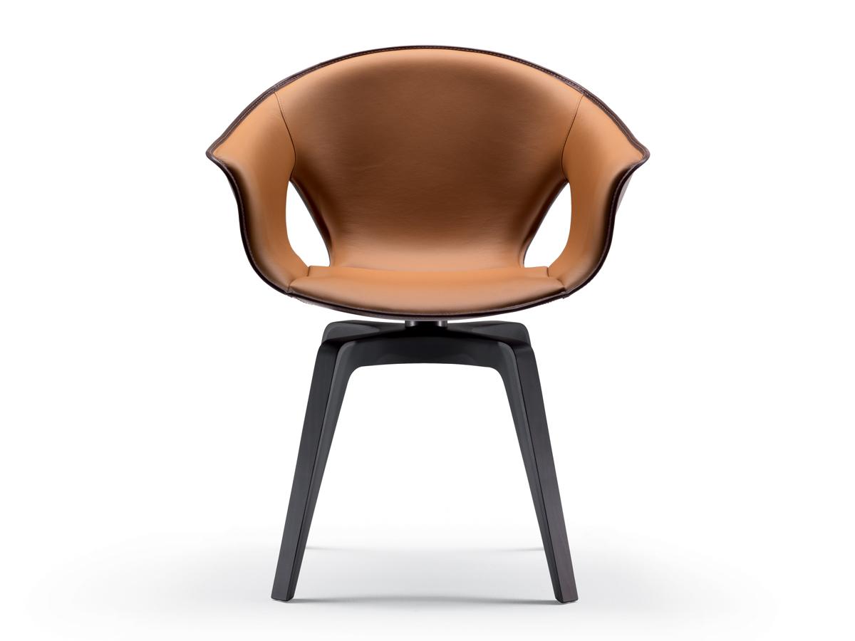 Buy the Poltrona Frau Ginger Swivel Armchair at Nest.co.uk