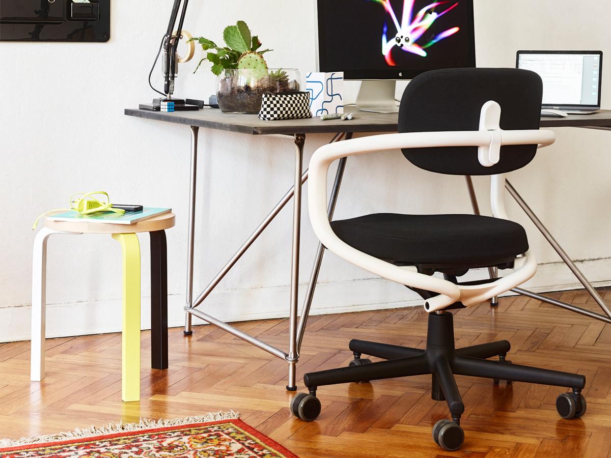 buy the vitra allstar office swivel chair white at