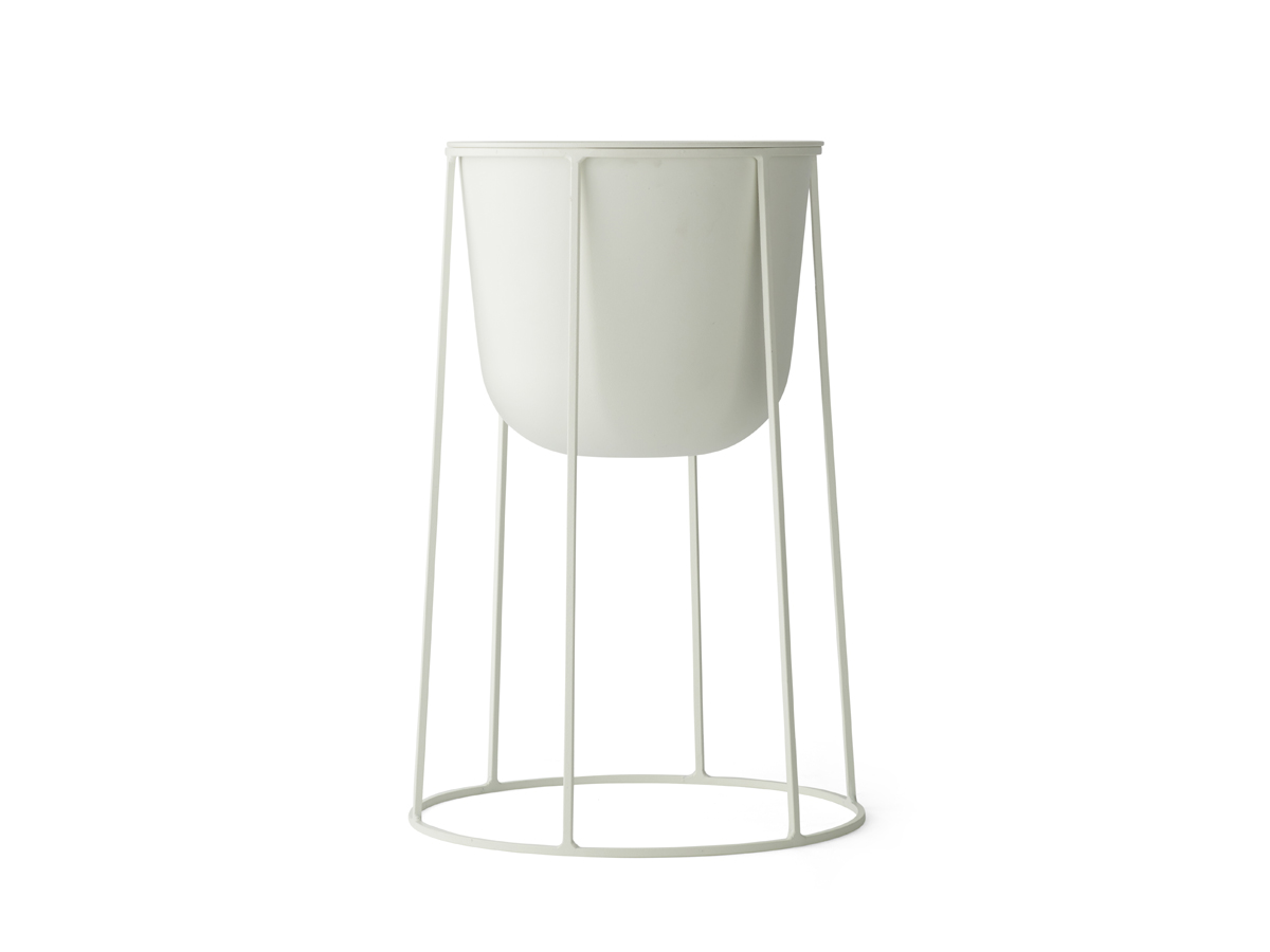 Buy the Menu Wire Plant Pot - White at Nest.co.uk