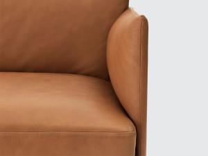 Muuto Outline Three Seater Sofa Leather