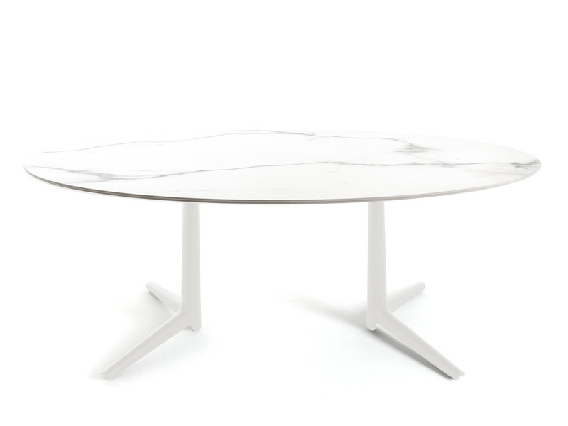 Buy The Kartell Multiplo Dining Table Oval At Nest.Co.Uk