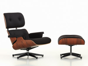 View Vitra Limited Edition Eames Lounge Chair Twill & Ottoman