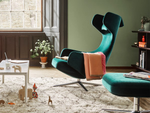 View Vitra Limited Edition Grand Repos & Ottoman in Nobile Velour