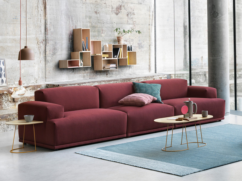 buy the muuto connect modular sofa in rime fabric at. Black Bedroom Furniture Sets. Home Design Ideas