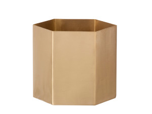 View Ferm Living Hexagon Pot Brass