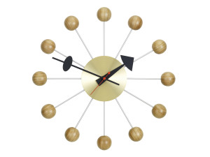 View Vitra Ball Wall Clock Cherry
