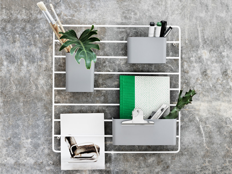 Metal Grid Wall buy the string works grid wall organiser at nest.co.uk
