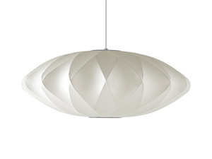 View George Nelson Bubble Crisscross Saucer Pendant Lamp Medium
