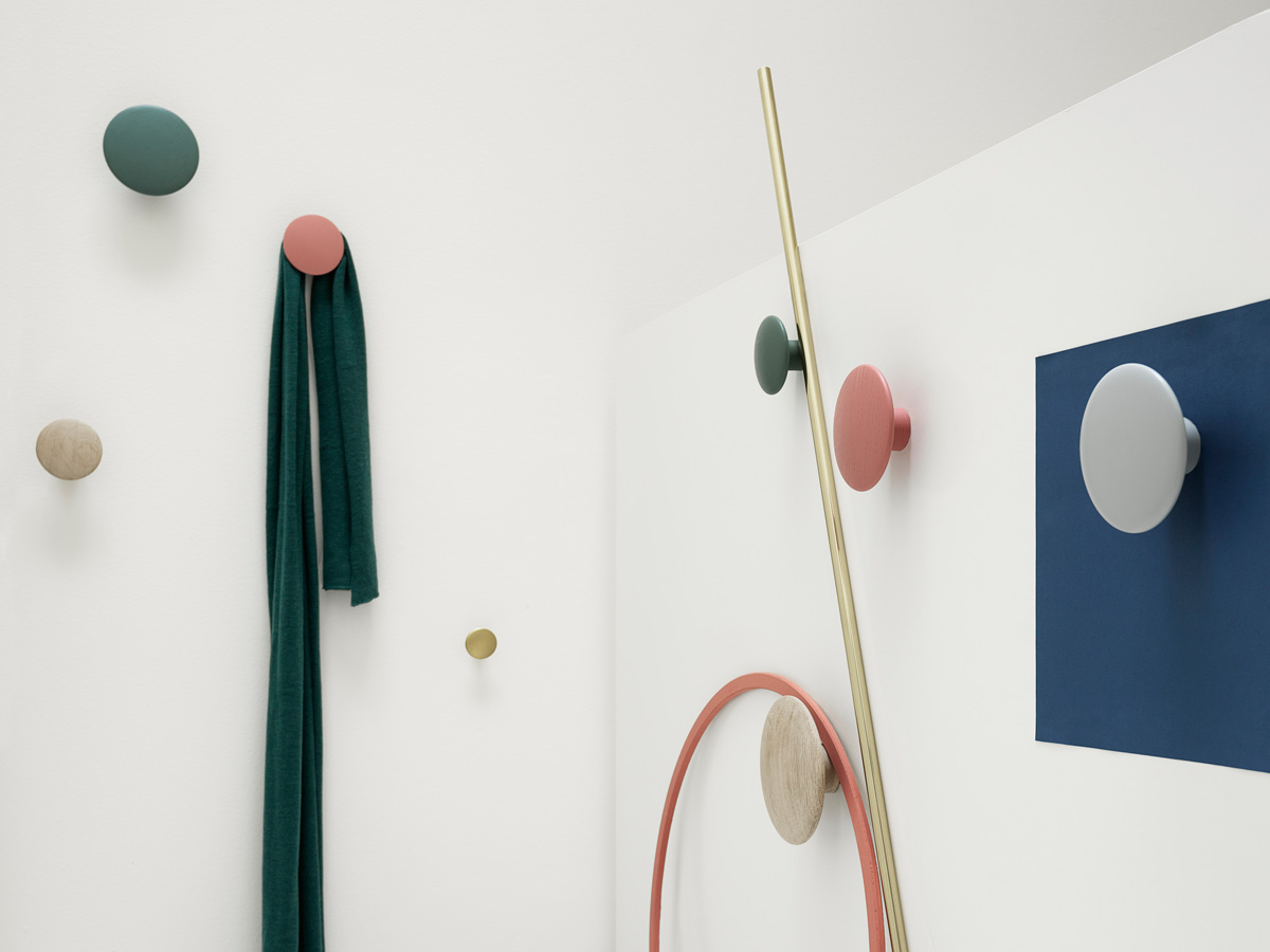 buy the muuto the dots coat hooks set of 5 at. Black Bedroom Furniture Sets. Home Design Ideas
