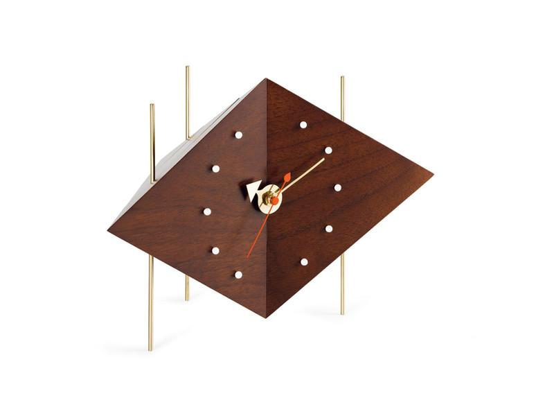 Vitra Walnut Diamond Desk Clock