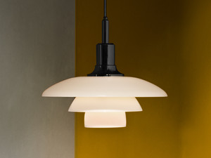 View Louis Poulsen PH 3½-3 Glass Pendant Light