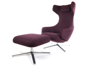 View Ex-Display Vitra Grand Repos Lounge Chair & Ottoman - Cosy
