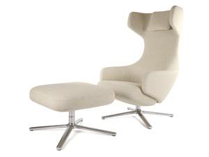 View Ex-Display Vitra Grand Repos Lounge Chair & Ottoman - Dumet
