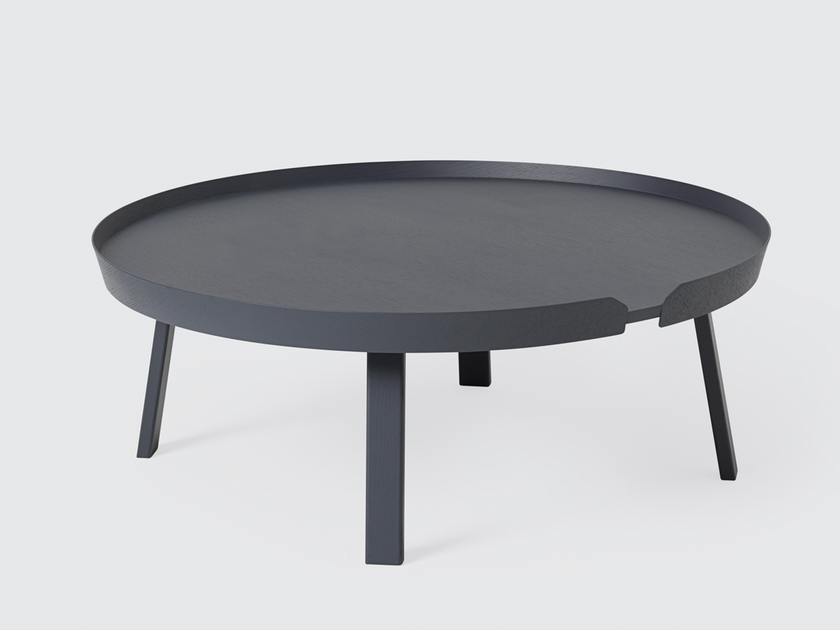 contemporary side tables coffee tables  dining tables  designer  - view muuto around coffee table extra large