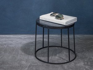 View Menu Wire Series Side Table Black