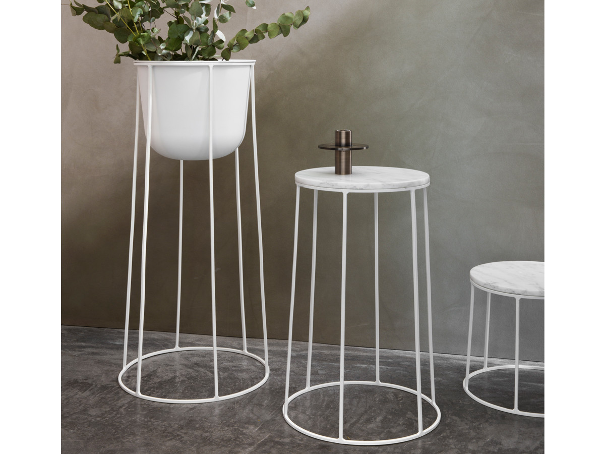 Buy the menu wire series side table white at nest menu wire series side table white 12345 greentooth Images