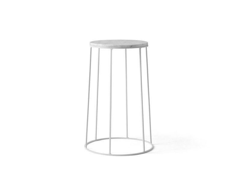 Buy the menu wire series side table white at nest menu wire series side table white greentooth Images