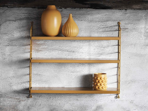 View String Pocket Shelving Mustard