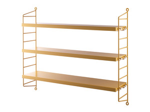 String Pocket Shelving Mustard