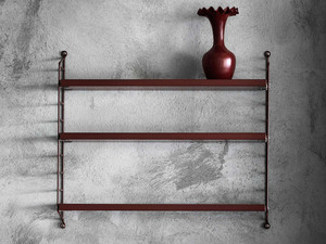 View String Pocket Shelving Burgundy