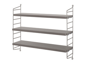 View String Pocket Shelving Grey