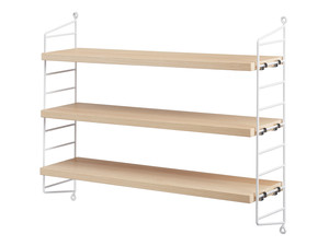 View String Pocket Shelving Ash
