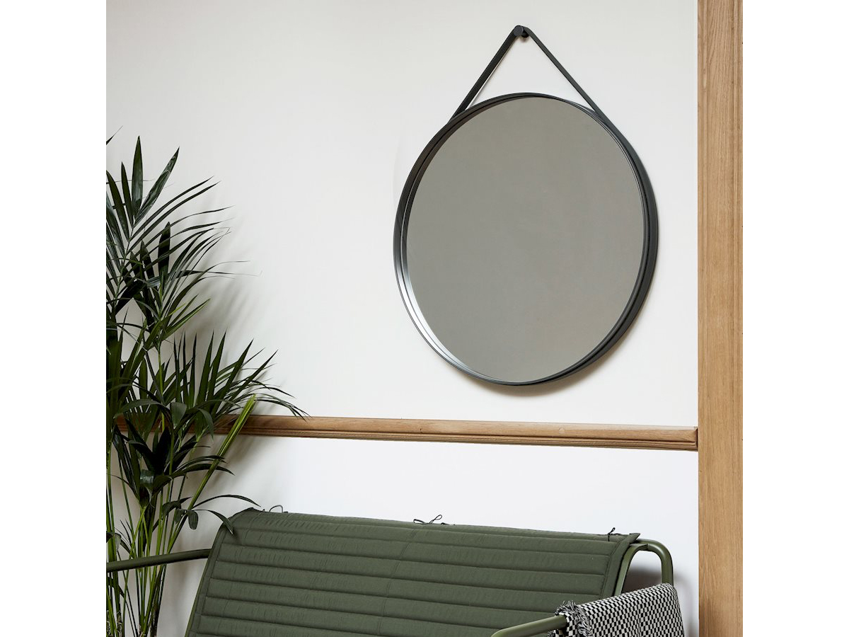 buy the hay strap mirror anthracite at. Black Bedroom Furniture Sets. Home Design Ideas