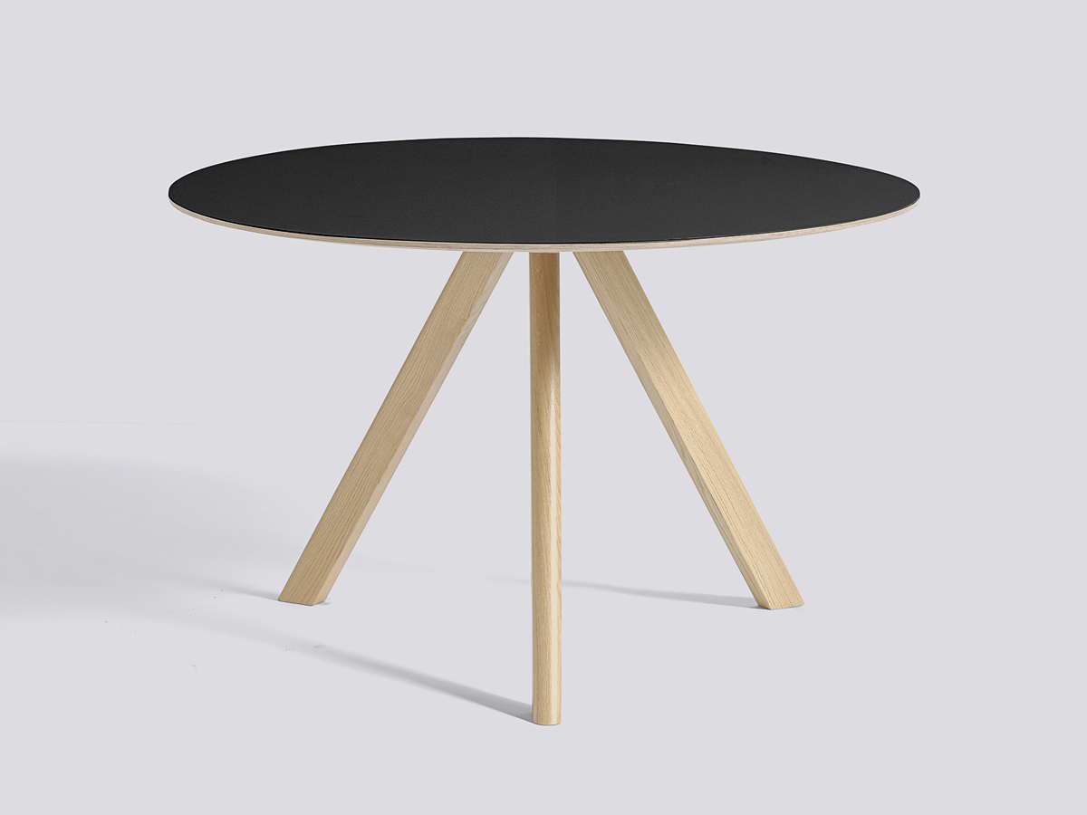 buy the hay copenhague round table cph20 with oak base at. Black Bedroom Furniture Sets. Home Design Ideas