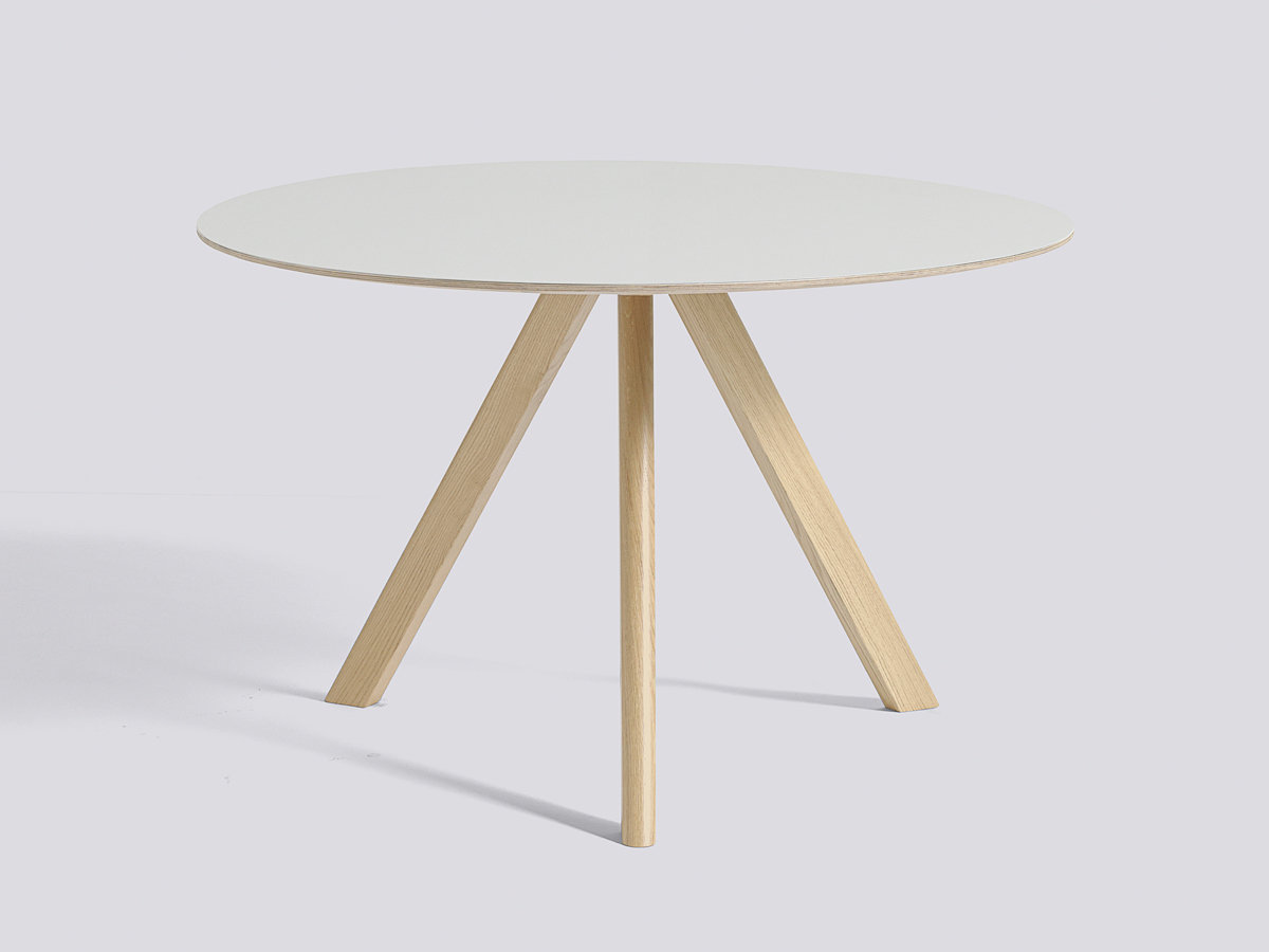 Buy the hay copenhague round table cph20 with oak base at for Off white round table