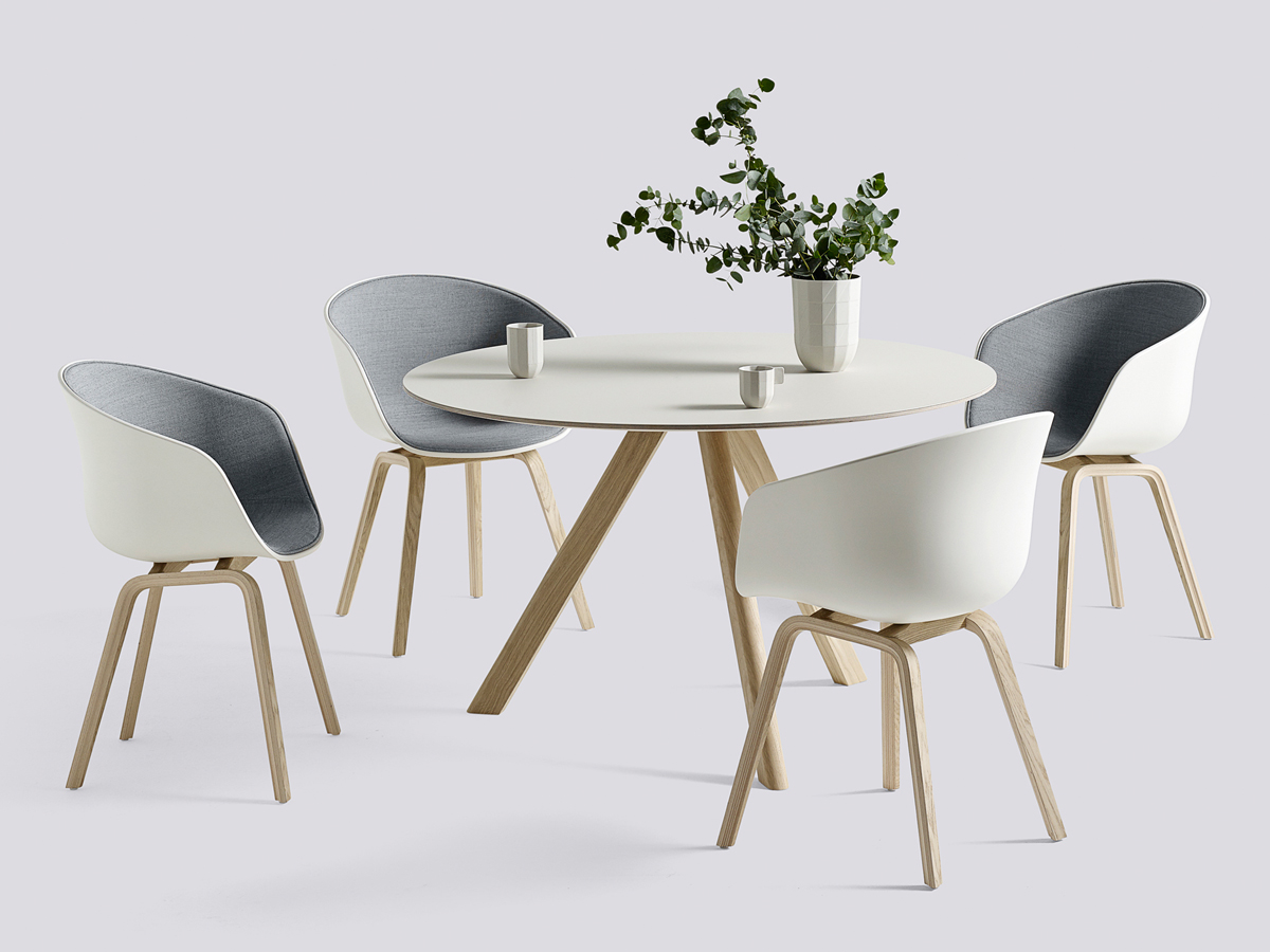Round Dining Room Tables For 4 Buy The Hay Copenhague Round Table Cph20 With Oak Base At