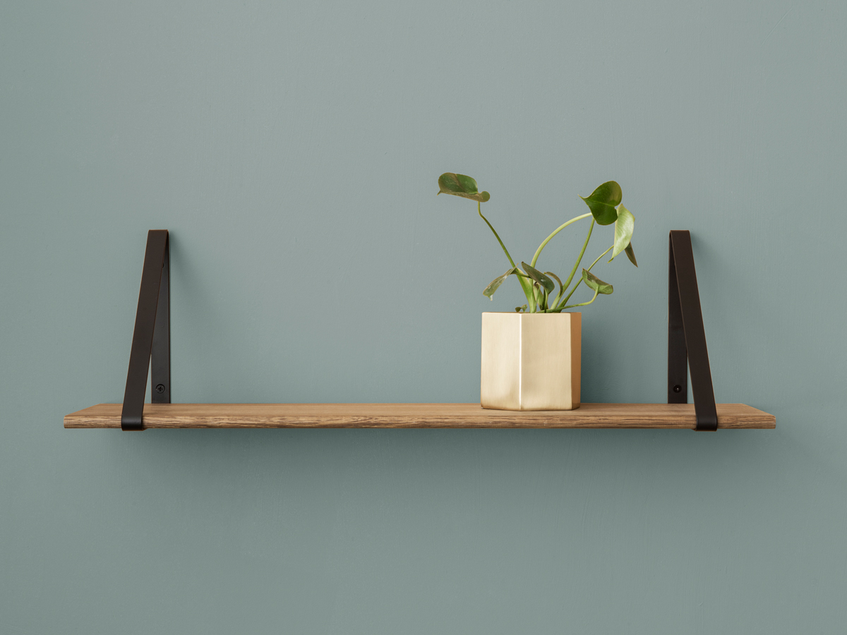 Buy the Ferm Living Shelf Smoked Oak at Nest co uk