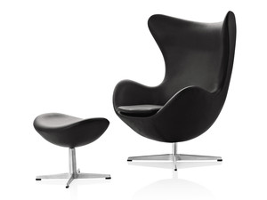 Fritz Hansen Egg Lounge Chair - Leather