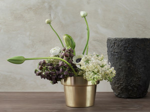 View Skultuna Flower Pot Brushed Brass
