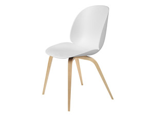 View Gubi Beetle Dining Chair Unupholstered Oak Base