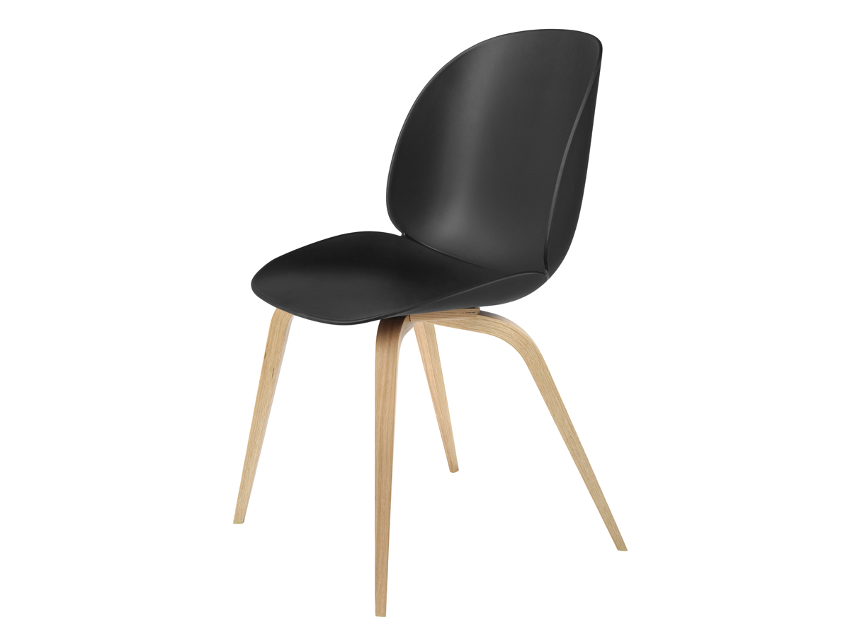 buy the gubi beetle dining chair unupholstered oak base in. Black Bedroom Furniture Sets. Home Design Ideas
