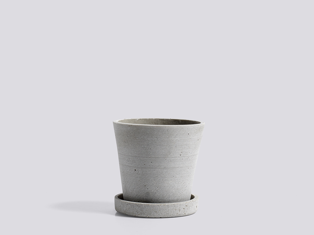 Buy The Hay Flowerpot With Saucer Grey At Nest