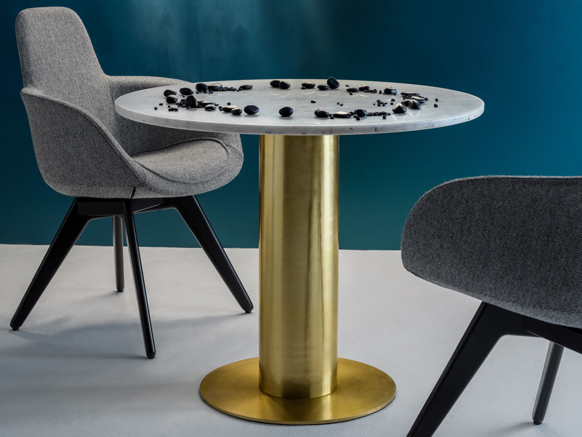 Buy The Tom Dixon Tube Table With Marble Top At Nestcouk - Tom dixon coffee table