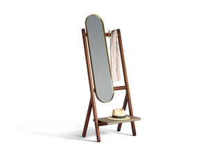 Poltrona Frau Ren Standing Mirror with Hangers