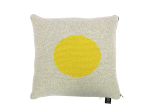 Giannina Capitani Yellow Dot Cushion