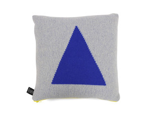 Giannina Capitani Blue Triangle Cushion
