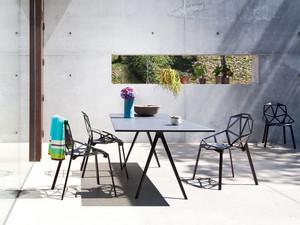 View Magis Baguette Rectangular Dining Table Slate