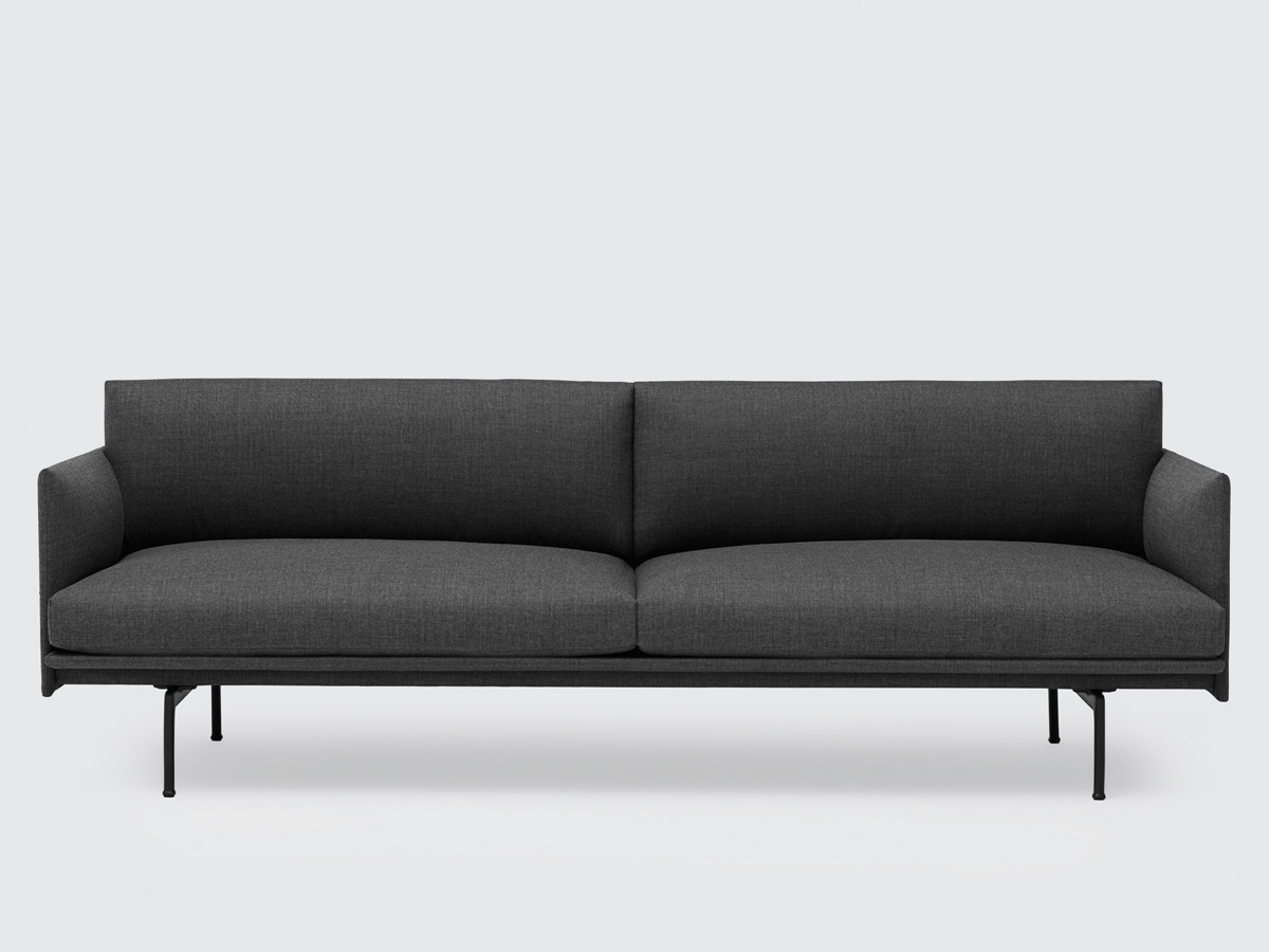 buy the muuto outline three seater sofa in remix fabric at. Black Bedroom Furniture Sets. Home Design Ideas