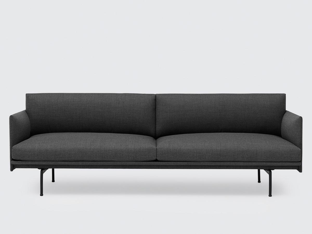modern furniture sofa. 10% Muuto Outline Three Seater Sofa In Remix Fabric Modern Furniture E