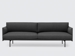View Muuto Outline Three Seater Sofa in Remix Fabric