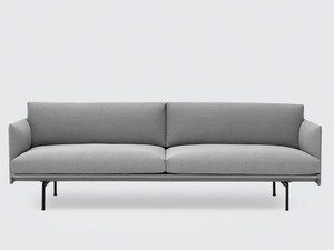 View Muuto Outline Three Seater Sofa in Steelcut Trio Fabric