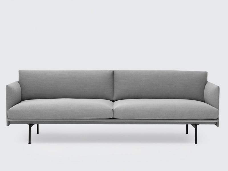Muuto Outline Three Seater Sofa in Steelcut Trio Fabric