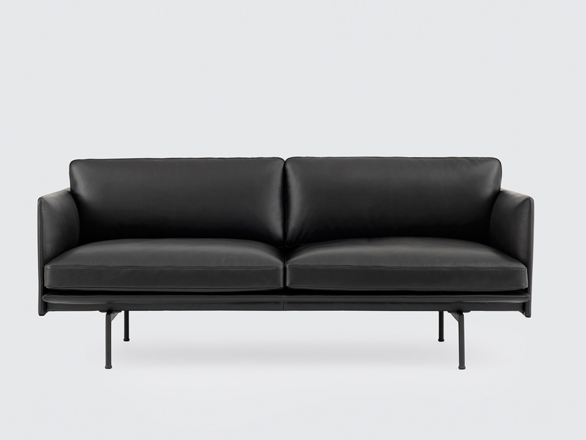buy the muuto outline two seater sofa leather at. Black Bedroom Furniture Sets. Home Design Ideas