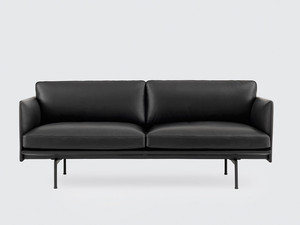 View Muuto Outline Two Seater Sofa Leather