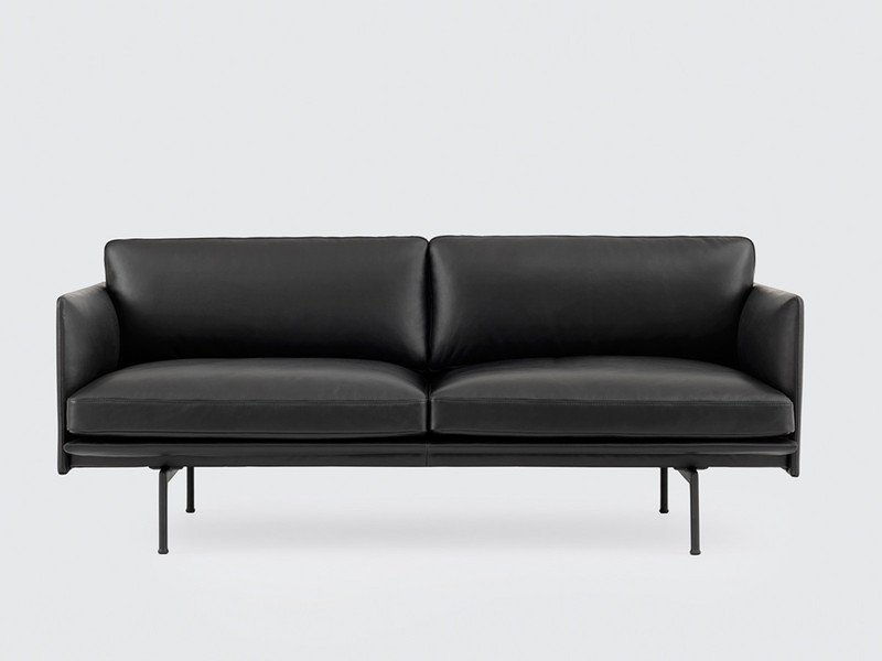 Muuto Outline Two Seater Sofa Leather